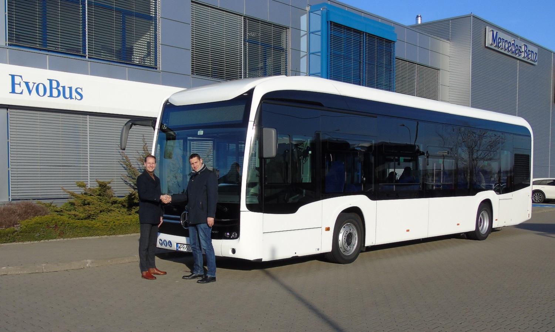 Elektryczny Mercedes e-Citaro na testach w Mobilis