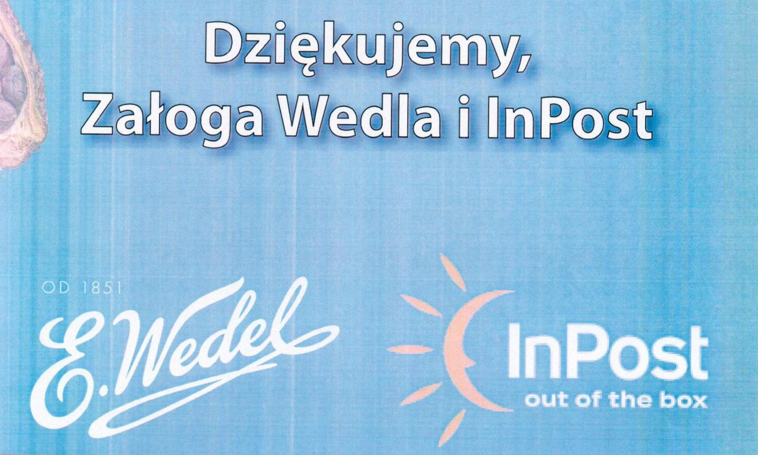 Dziękujemy marce E.Wedel oraz InPost za wsparcie